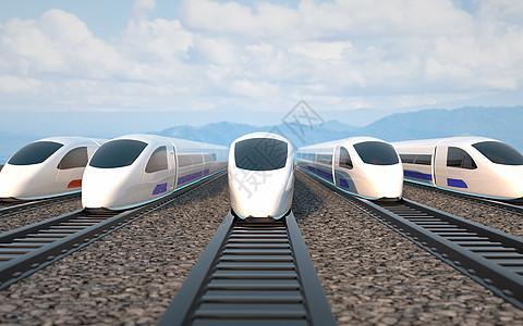 高铁动车运输场景图片