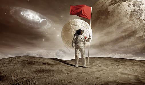宇航员登陆图片