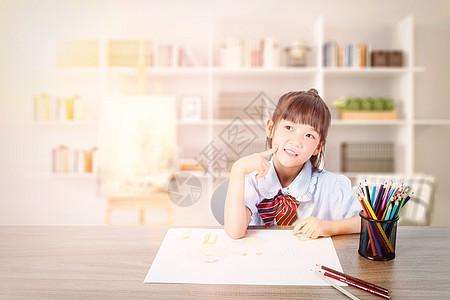 儿童做作业图片