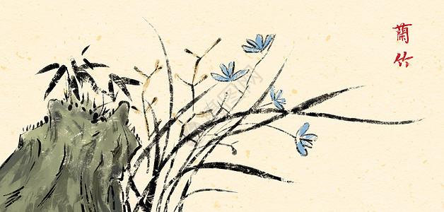 兰花和竹子图片