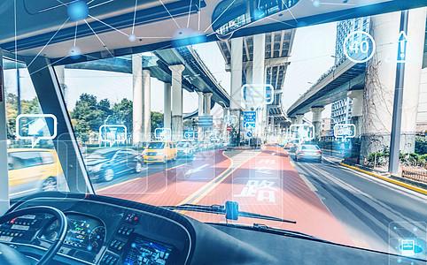 自动驾驶公交汽车图片