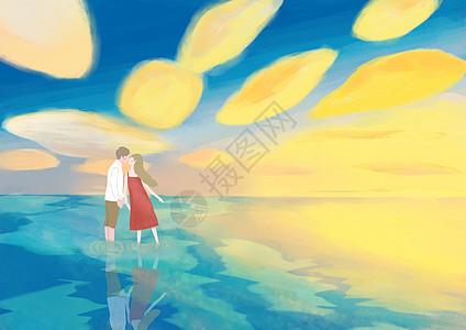 海边情侣图片