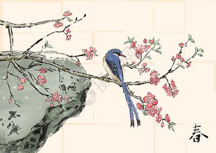 春天的鸟桃花图片