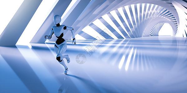 奔跑的机器人图片