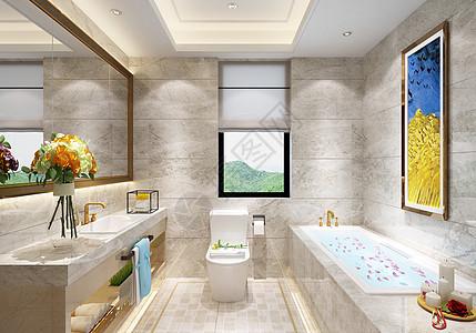 现代浴室图片