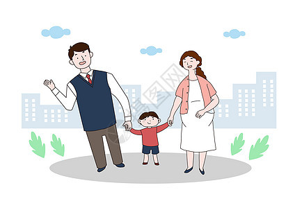 生二胎政策_二胎政策插画图片下载-正版图片400642918-摄图网