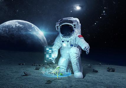 太空宇航员登陆图片