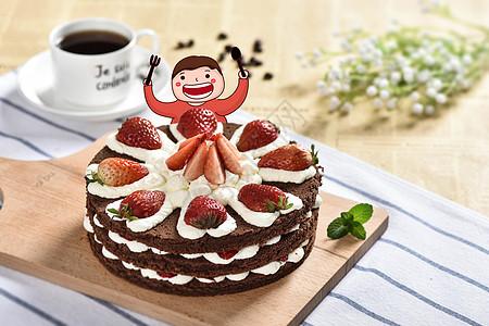 吃蛋糕的男孩图片