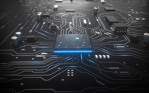 科技芯片电路空间图片