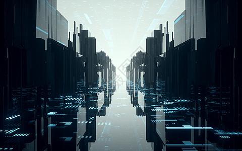 科技空间延伸通道图片