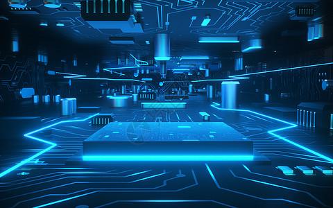 科技芯片内部空间图片