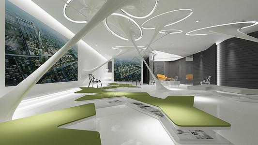 现代产业展厅图片