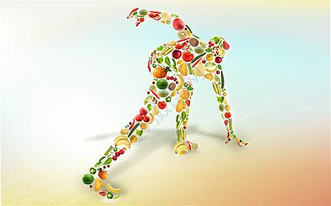 健身运动合理膳食图片