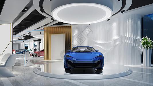现代车展汽车展馆图片