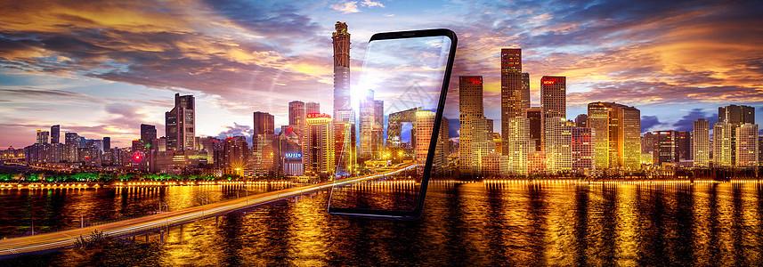 手机中的城市图片