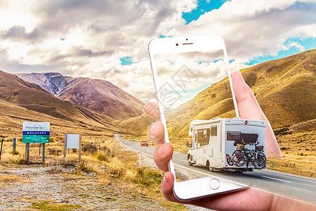 手机里的房车图片