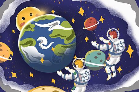 地球一hourworld地球日清新治愈插画picture