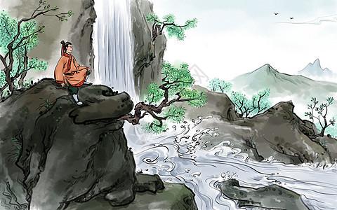 中国风踏青图片