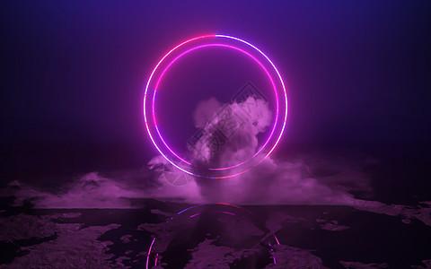 炫酷霓虹灯光图片