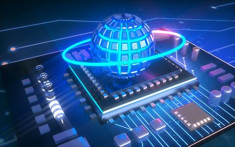 科技芯片空间图片