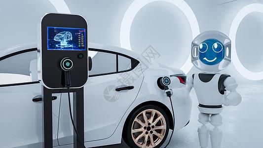 新能源智能充电桩图片