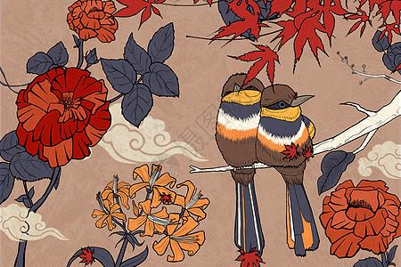 花鸟传统纹样图片