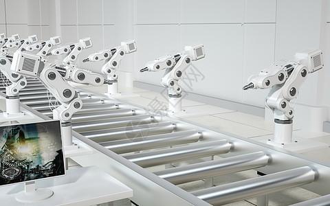 现代化智能机械工厂图片