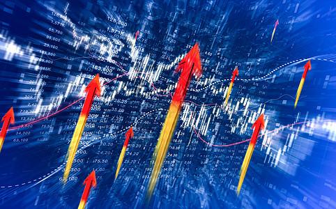 商务金融强劲增长图片