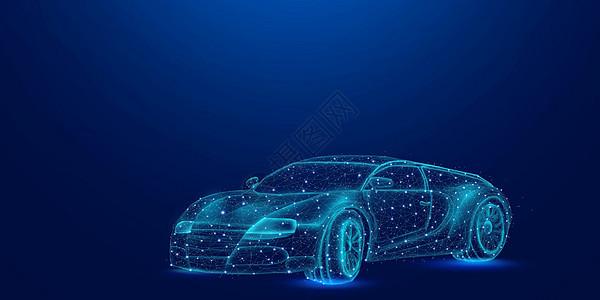 智能汽车科技背景图片
