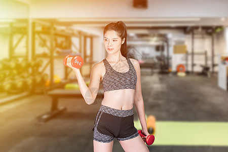 健身美女图片