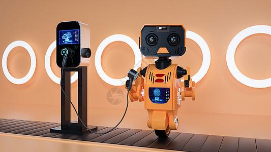 新能源智能机器人充电桩图片