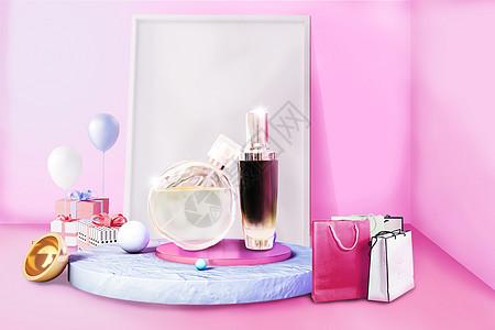 香水展示柜图片