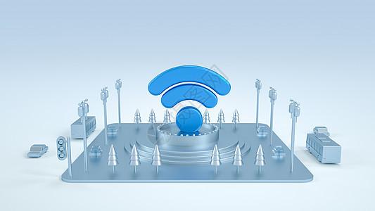 无线Wifi创意场景图片