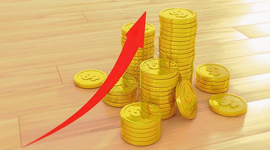 金币美元上涨图片