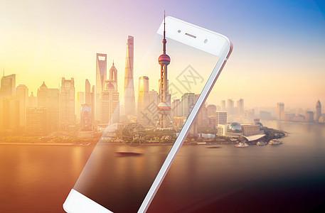 手机中的上海图片