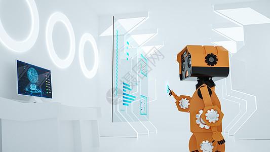 机器人控制科技场景图片