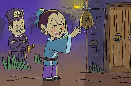穆桂英卡通图片_中华优秀传统文化木偶戏插画图片下载-正版图片401036441-摄图网