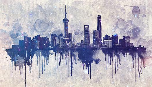 水墨上海图片