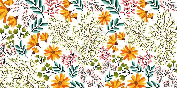 清新植物花卉背景图片