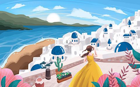 唯美希腊之旅图片