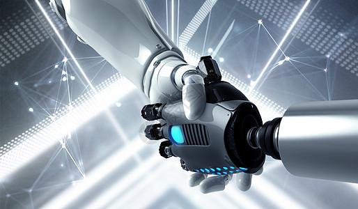 握手的机器人图片