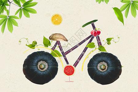 绿色天然自行车图片