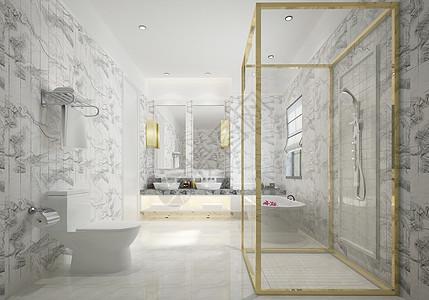 后现代浴室图片