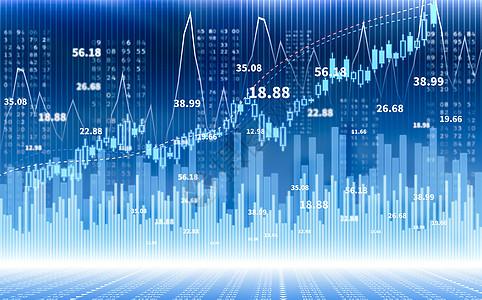 金融曲线财经指数图片