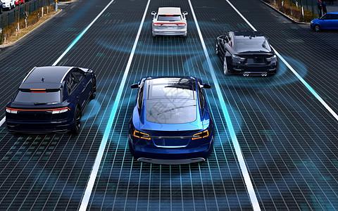 汽车道路自动驾驶场景图片