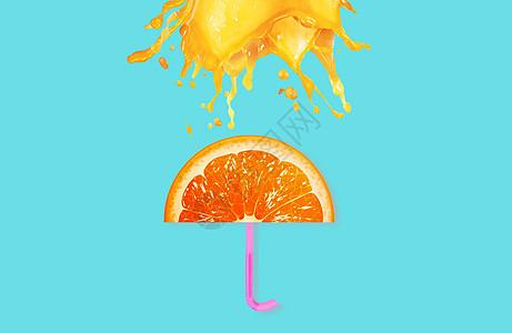 创意水果雨伞图片