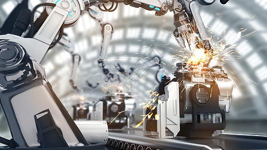 智能机械手工厂图片