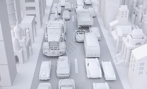 街道堵车图片