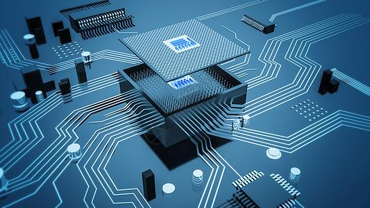 科技电路芯片场景图片