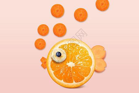 橘子金鱼图片